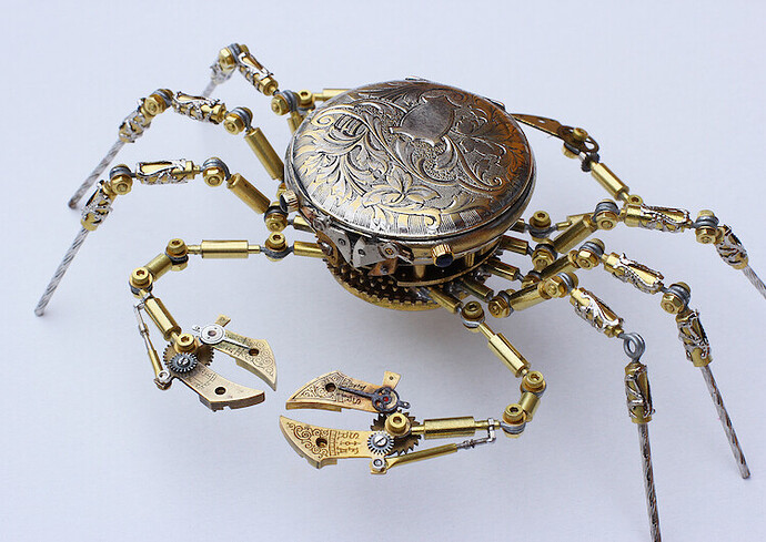 Steampunk Crab Made From Antique Watches by Peter Szucsy