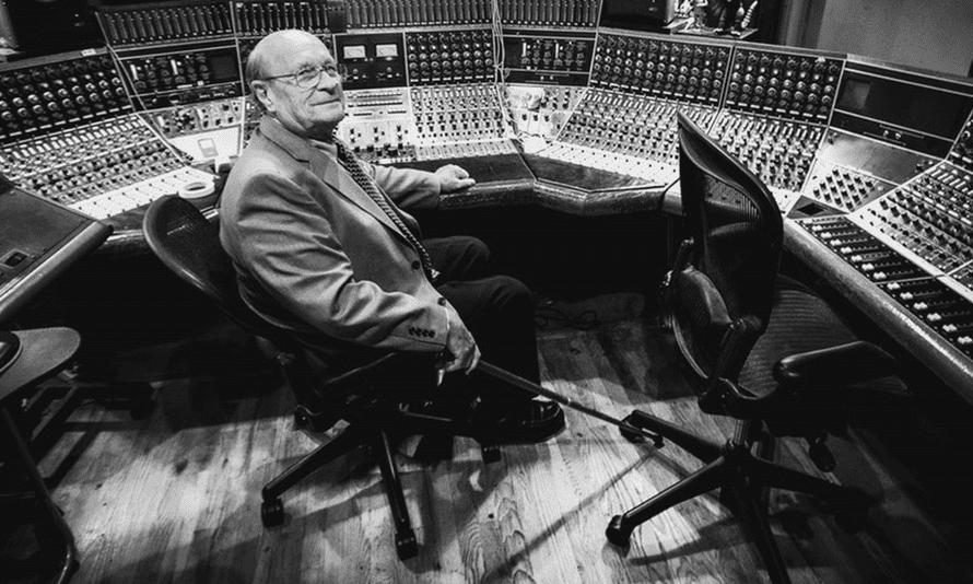 Rupert Neve, audio engineer, in the studio